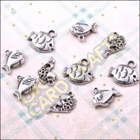 Fishy Metal Charms & Spacers - HHCS12